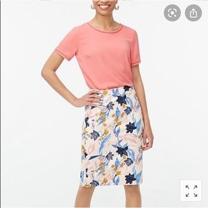 NWT Jcrew printed basket weave floral skirt